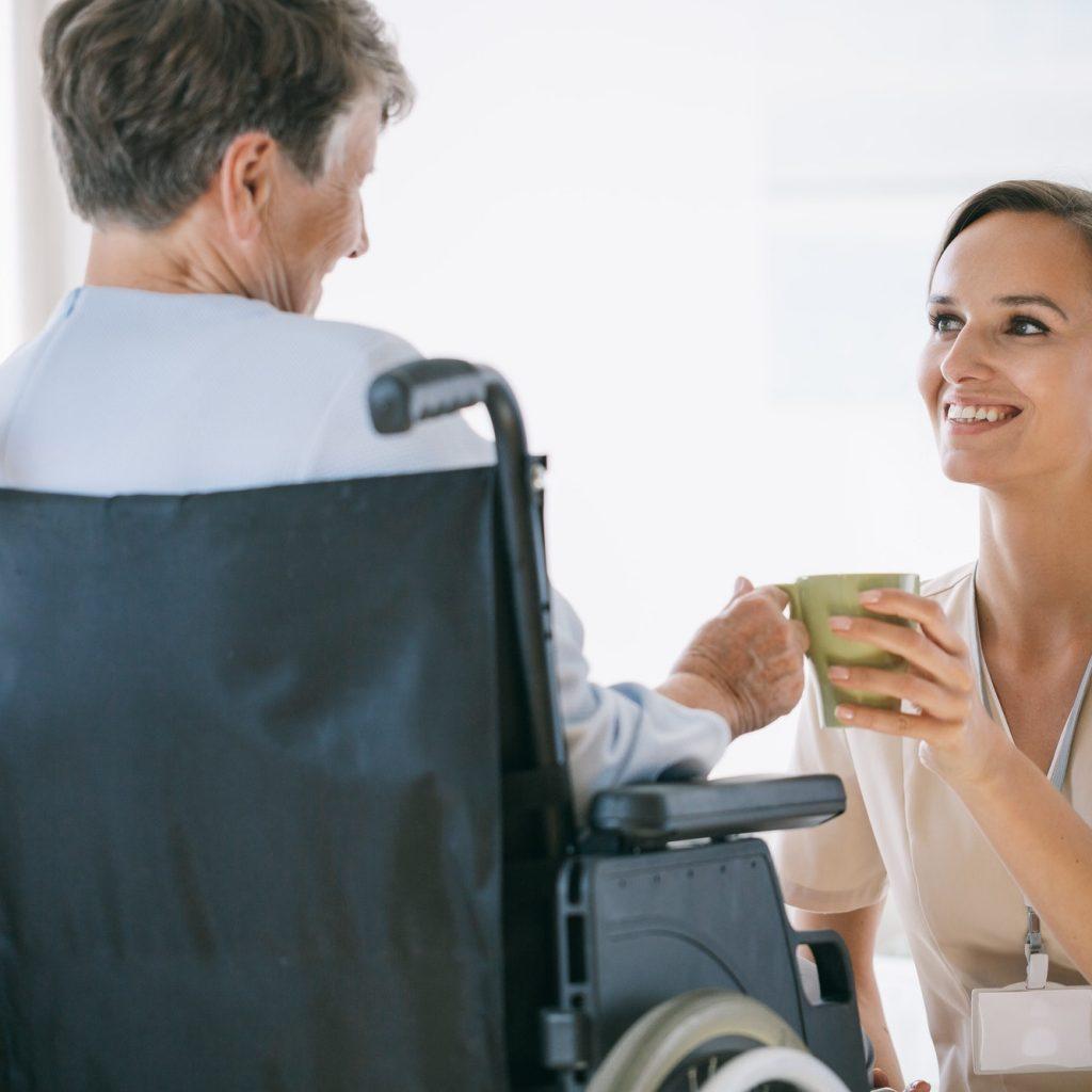 Nurse in a nursing home
